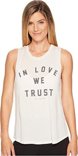 Spiritual Gangster - In Love We Trust Muscle Tank Top