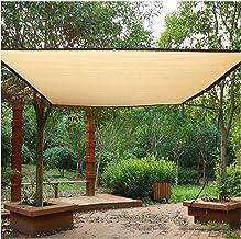 LIXIONG Sunblock schaduwdoek, beige stofdicht anti-UV metalen oogje gebruikt voor patio dakrand balkon zon kamer landbouw,...