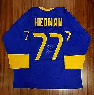 Autographed Victor Hedman Jersey - Team Sweden - JSA Certified - Autographed NHL Jerseys