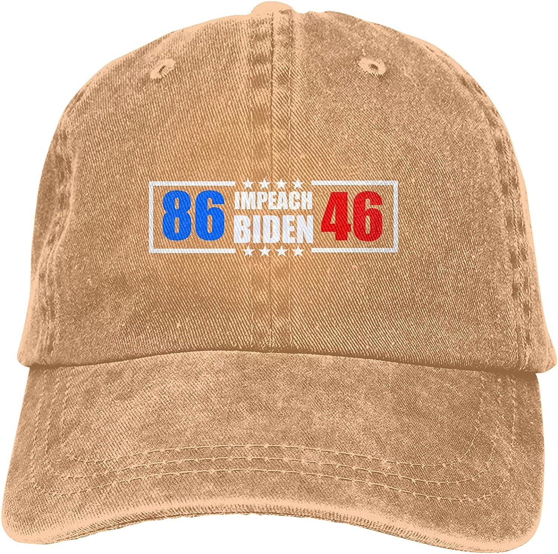BGWORZD 8646 Impeach Biden Unisex Baseball Cap Adjustable Dad Hat Washable Cowboy Hat Black