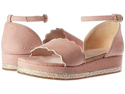 Chloe Kids Suede Platform Sandals (Little Kid) (Peach) Girl
