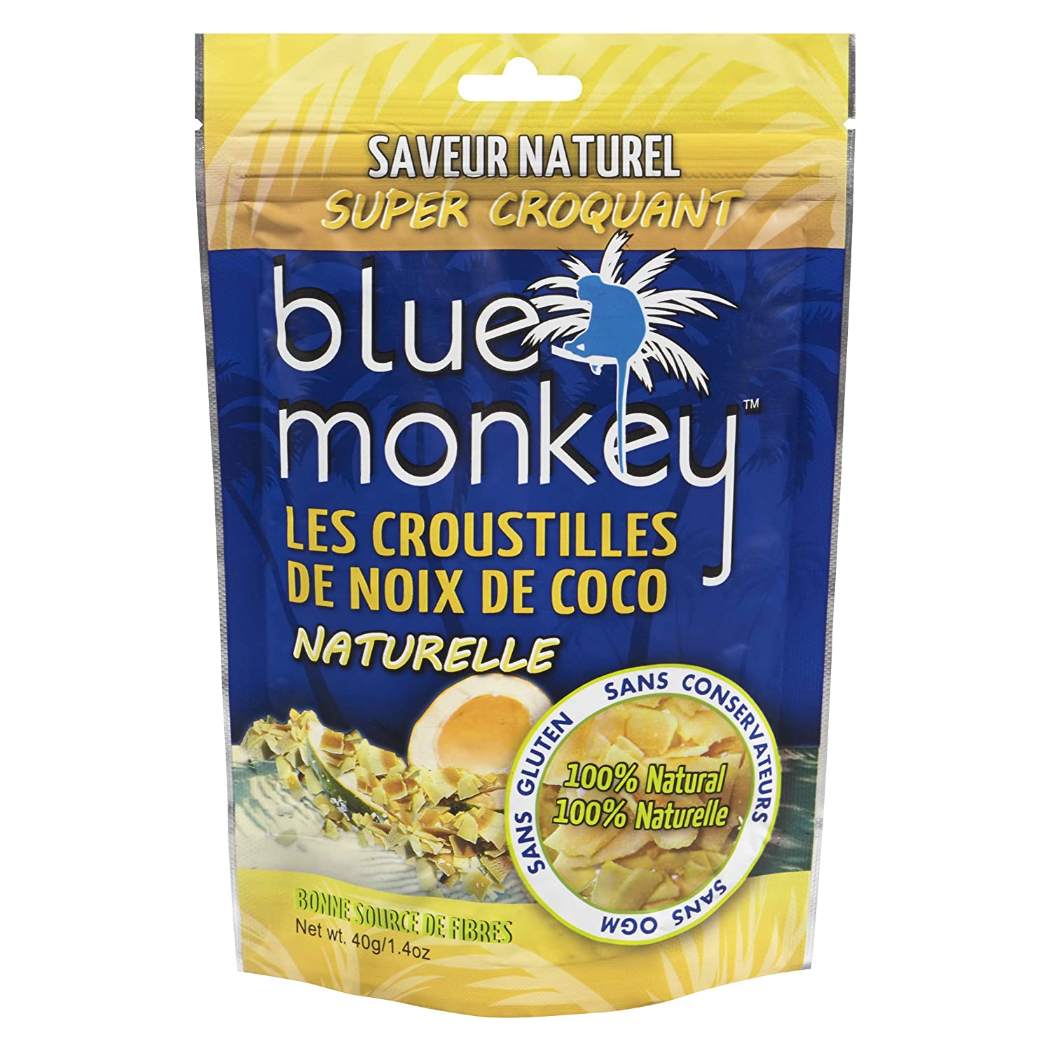 Blue Monkey Coconut Chips 40-Gram 1.4 oz Direct stock discount g. Pac Weight 960 Net Max 66% OFF