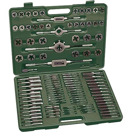 Mannesmann M53255 - Juego de herramientas para roscar de 110 piezas