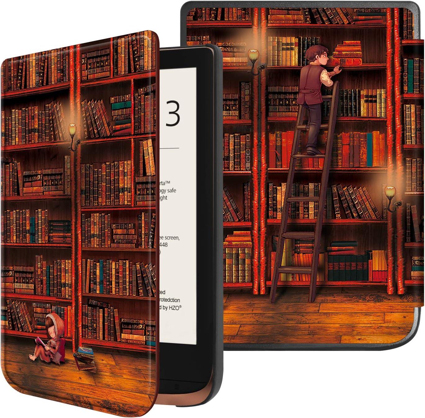 Fintie Funda Compatible con Pocketbook Touch HD 3/Touch Lux 4/Basic Lux 2/Color (2020) e-Book Reader de 6