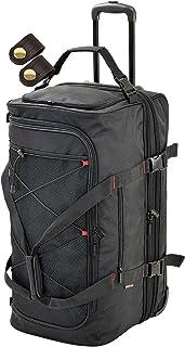 ソフト キャリーバッグ マチ幅拡張機能 最大容量100L 重さ3580g + [タケハチ] 竹八謹製 [牛革製ケーブルバンド2個] セット tm0471