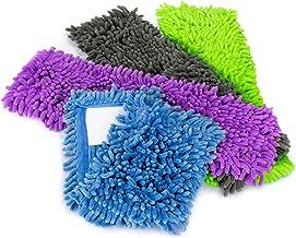COM-FOUR® 4x wymienna nakladka do mopa podlogowego, nakladka do mopa z mikrofibry szenilowej do gruntownego czyszczenia po...