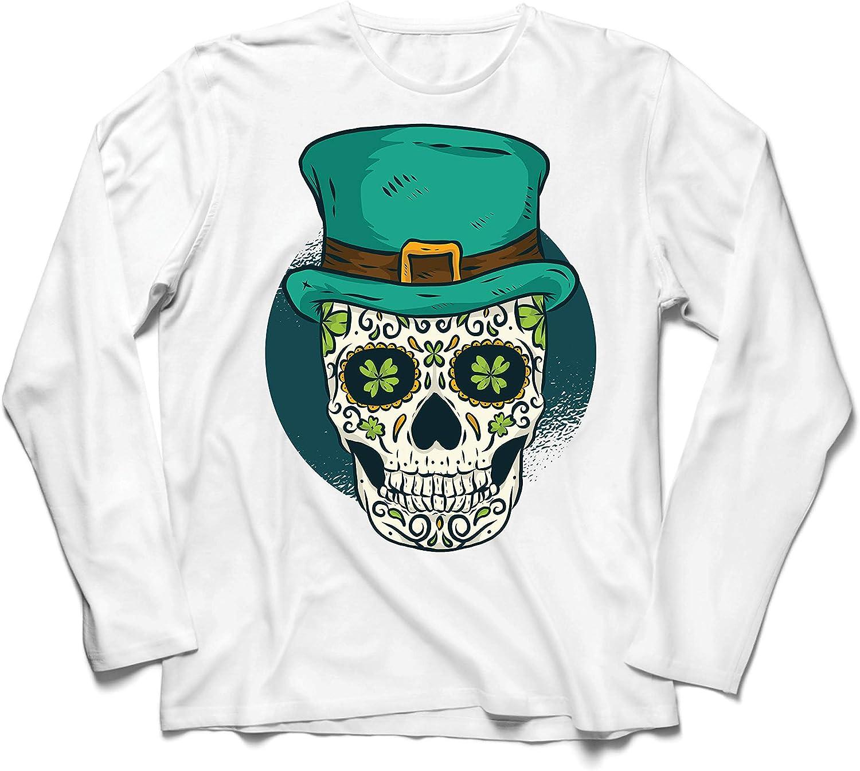 lepni.me Camiseta de Manga Larga para Hombre Cráneo del día ...