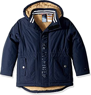 Boys' Adaptive Parka with Hood and Magnetic Buttons
