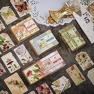 200 Pcs étiquettes en papier kraft Motif rétro, étiquettes à suspendre, Vintage Scrapbooking DIY Matériel Papier Journal D...