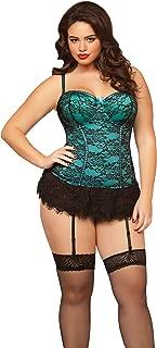 Seven 'til Midnight Women's Plus Queen Size Victorian Lace Bustier