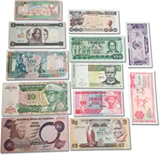 World Banknotes Collection - 12 African Banknotes - Foreign, Currency, Uncirculated