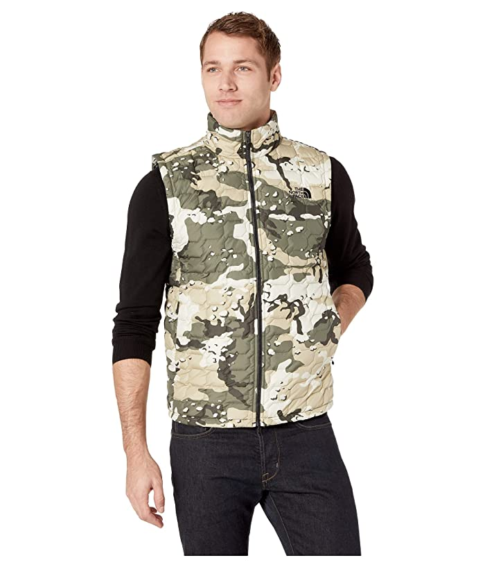 The North Face Thermoball Vest (Peyote Beige Woodchip Camo Print) Men