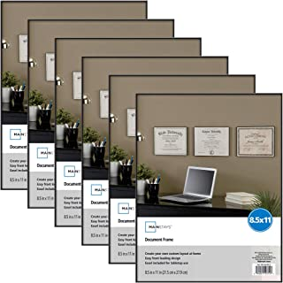 Mainstays 8.5x11 Document Format Picture Frame, Set of 6