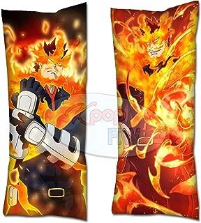 Cosplay-FTW Anime My Hero Academia Endeavor Body Pillow/Enji Todoroki Body Pillow Cover Peach Skin Cotton Polyester Blend 40cm x 100cm (Set of 1, CASE ONLY)