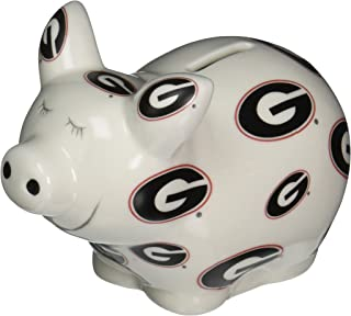 NCAA Georgia Bulldogs Piggy Bank with All Over Logo