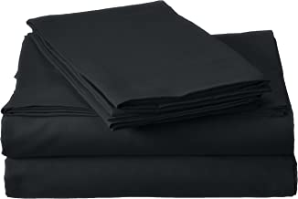 Millenium Linen Queen Size Bed Sheet Set - Black - 1600 Series 4 Piece - Deep Pocket - Cool and Wrinkle Free - 1 Fitted, 1 Flat, 2 Pillow Cases