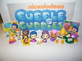 Bubble Guppies Deluxe Party Favors Goody Bag Fillers Set of 15 with 12 Figures, BG Stickers and ToyRing Featuring Favorite Characters, Baby Guppies, Bubble Puppy and More