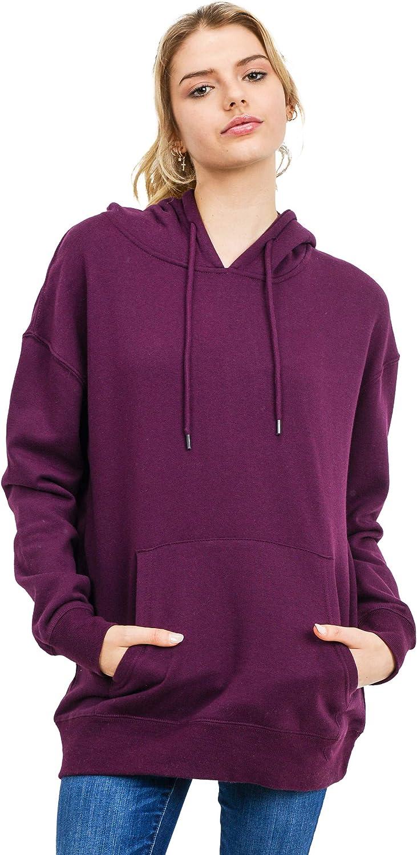 esstive Women's Ultra Soft Fleece Oversized Comfortable Lightweight Casual Solid Pullover Hoodie Sweatshirt