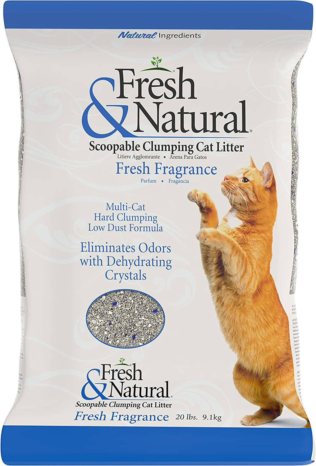 Fresh & Natural ScoopAble Clay Cat Litter, 20Pound, Fresh Fragrance