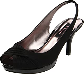 Nina Women's Camala Slingback Sandal,Black,7 M US