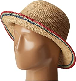 a6b14af7780 Crochet Raffia Bucket with Contrasting