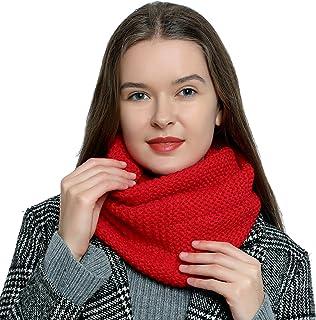 Bufanda de lana de invierno tipo cuello suave y cálida para mujer con diseño de punto