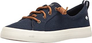 Sperry Women's Crest Vibe Linen Sneaker, Navy, 12 M US