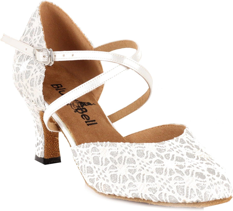 BlueBell Shoes Handmade Women's Ballroom Salsa Wedding Competition Dance Shoes The Brannan 2.5