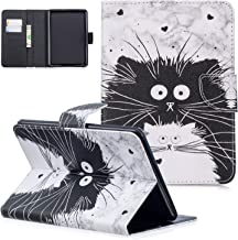 UGOcase SlimShell for Amazon Kindle Paperwhite 10th Generation 2018 Released, PU Leather Thin Lightweight Cute Stand Folio Smart Cover with Auto Sleep Wake Function & Cards Pocket, Black Cat