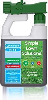 Advanced 16-4-8 Balanced NPK - Lawn Food Quality Liquid Fertilizer - Spring & Summer Concentrated Spray - Any Grass Type -...