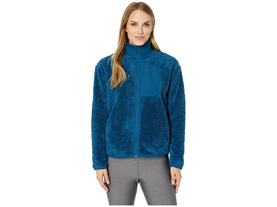 Nike Long Sleeve Full-Zip Training Top (Blue Force/Black) Women