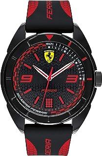 Ferrari Unisex-Adult Quartz Watch, Analog Display and Silicone Strap 830515