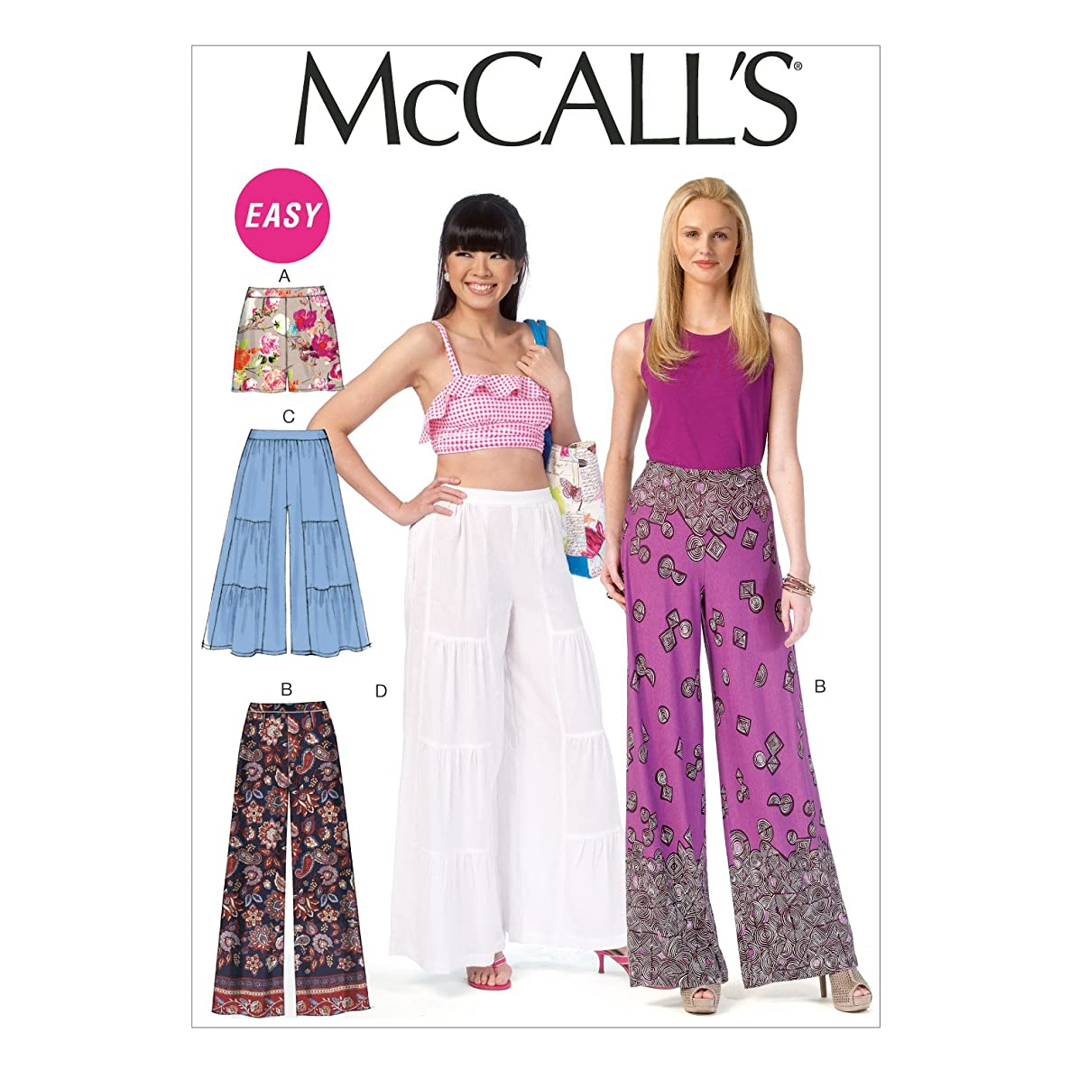 McCall's Patterns M7164 Misses' Shorts and Pants Sewing Template, Y (XSM-SML-MED)