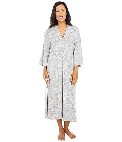 Donna Karan Brushed Sweater Sleepwear Jersey Caftan (Grey Heather) Women
