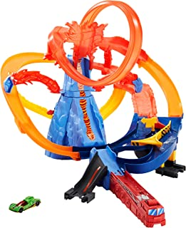 Hot Wheels FTD61 City Volcano Escape Connectable Play Set with Diecast and Mini Toy Car