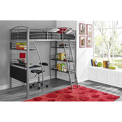 Bunk Beds With Desk Underneath Amazon Com