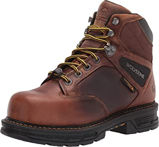 Eagle Mens Boots Accented Ankle Chain Work Hiking Padded Shoes Cognac