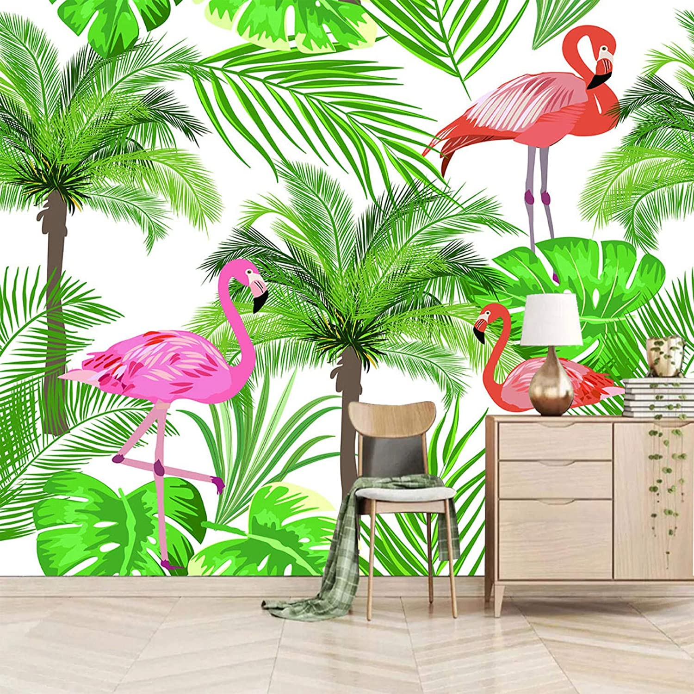 XiaoCha Minneapolis Mall Green Plant Flamingo 3D Ranking TOP18 Wall Stickers Wal Self-Adhesive