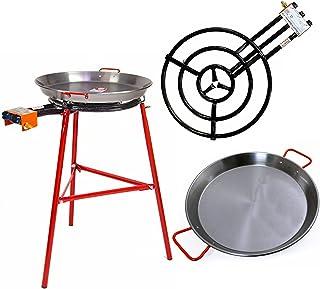 Paellera + Paella quemador y soporte - Kit completo de paella para hasta 40 porciones