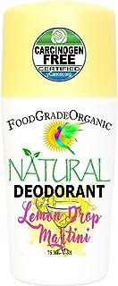 Natural Deodorant for Men & Women Lemon Drop Martini Carcinogen-Free Food Grade Organic Aluminum-Free for Adults and Child...