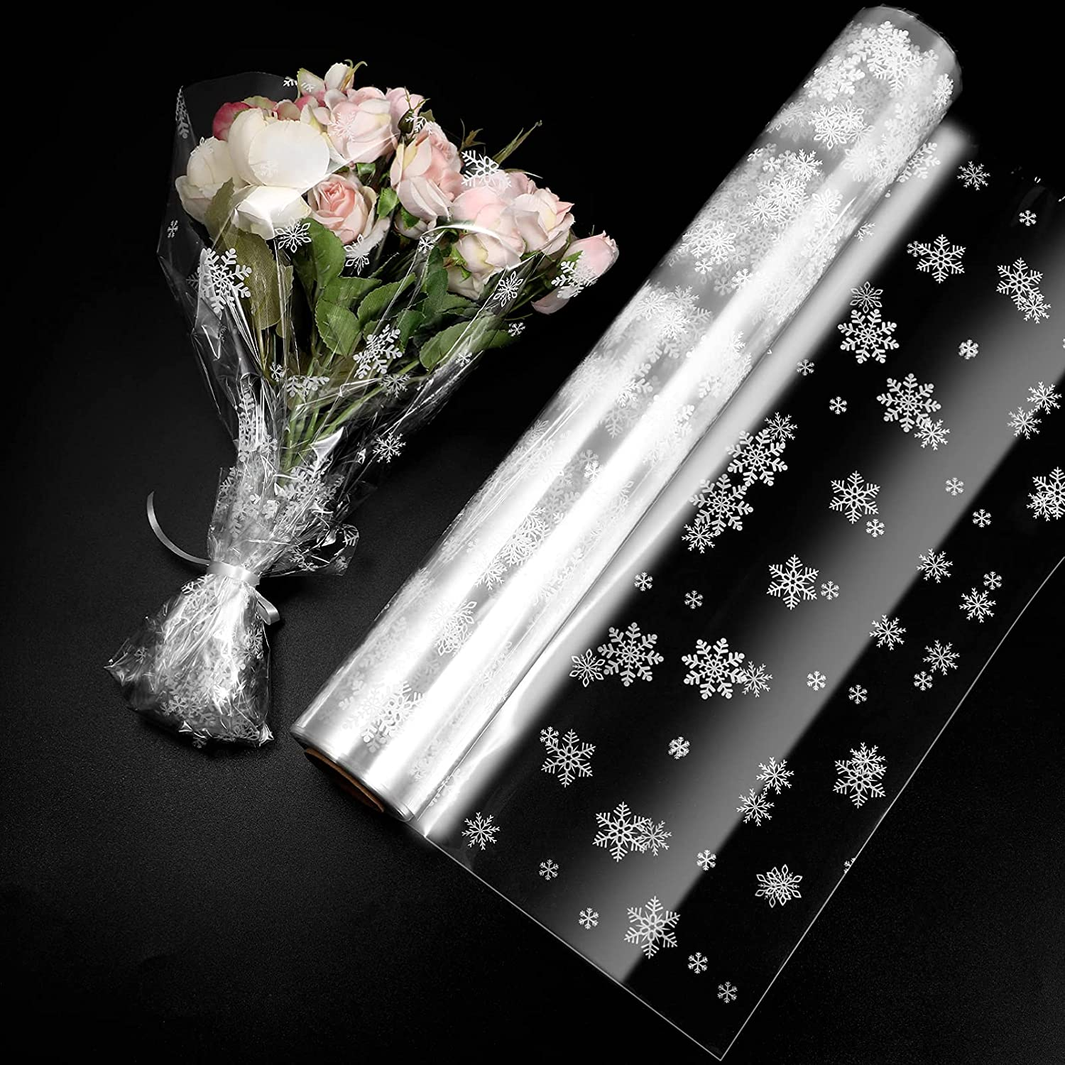 NUOBESTY Christmas Large discharge sale Cellophane Wrap Roll 100. Wide Long X Large special price in. 34