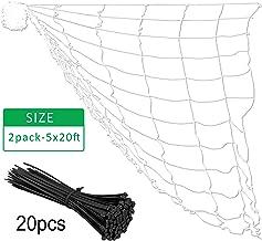 Gardzen Polyester Plant Trellis Netting with 20pcs Cable Ties, 6