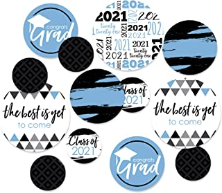 Big Dot of Happiness Light Blue Grad - Best is Yet to Come - Light Blue 2021 Graduation Party - Party Decorations - Large ...