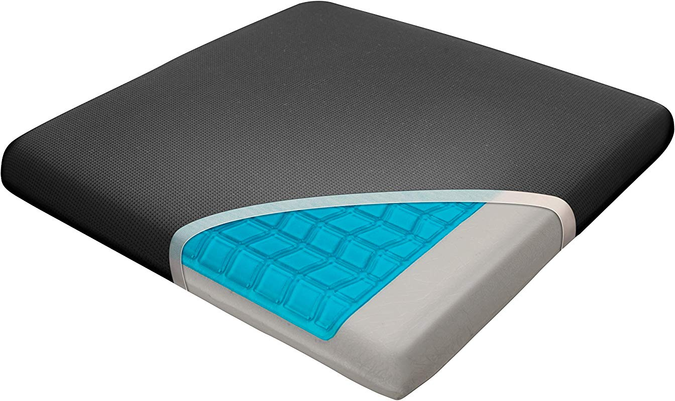 Wagan IN9111 Relax Fusion Standard Memory Foam And Gel Seat Cushion