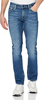 BOSS Mens Delaware BC-C Slim-fit Jeans in mid-Blue Distressed Stretch Denim