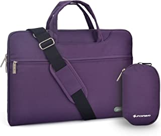 Laptop bag 15.6 inch, FOPATI 15 - 15.6 Inch Laptop Sleeve Case Briefcase Shoulder bag Messenger bag for Macbook Pro 15, ASUS X551MA, Dell Inspiron, Acer Aspire, HP Pavilion, Lenovo IdeaPad - Purple