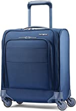Samsonite Flexis Softside Underseat Carry-On with Spinner Wheels, Carbon Blue, One Size