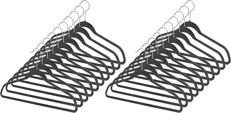 Whitmor Spacemaker Plastic Bargain sale Suit Hangers 20 Black Max 56% OFF of Set