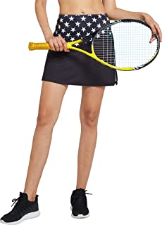Cityoung Women's Athletic Tennis Skort Active Everyday Skirt Running Golf Workout Sport Shorts