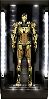 Dragon Models Iron Man 3 - Hall of Armor - Mark 21, Action Hero Vignette with Lighted Hall Building Kit (1/9 Scale)